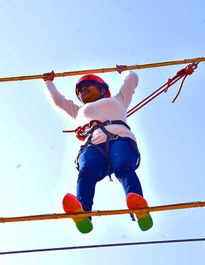 High Rope Course Activity at Mussoorie