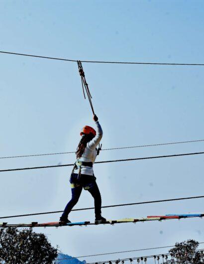 Sky walk adventure activity in Mussoorie