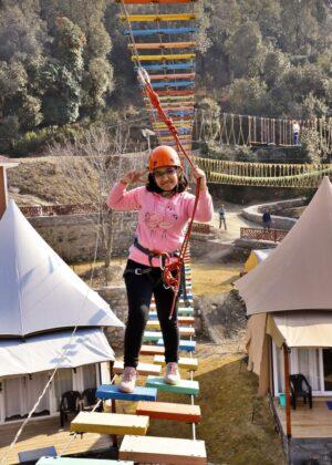 High Rope Course Activities Mussoorie Adventure Resort