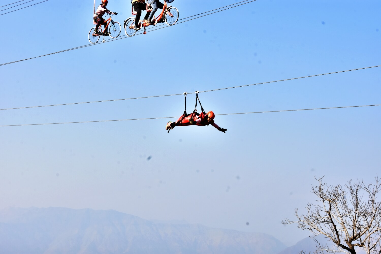 Flying fox activities in Mussoorie Adventure Resort
